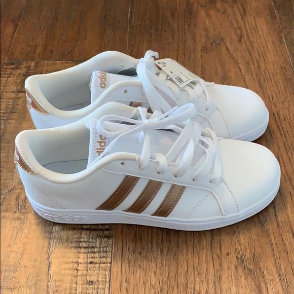 Adidas rose gold girls sneaker